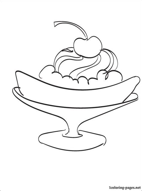 Banana Split Coloring Page Coloring Pages Banana Split Coloring Page