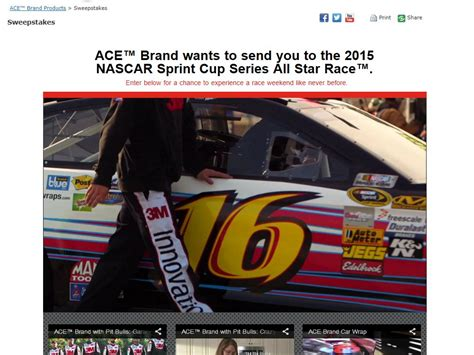 World Series Car Giveaway - ace brand 2015 nascar sprint cup series all star race sweepstakes sweepstakes fanatics