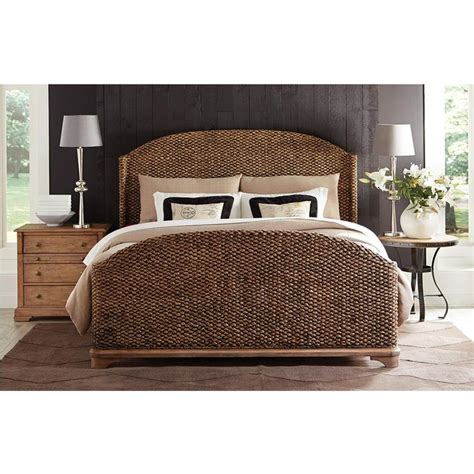 seagrass bedroom sets riverside furniture s sherborne seagrass woven bed in