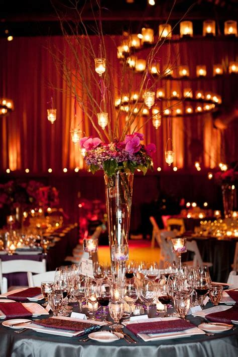 vase with branches centerpieces rent a trumpet or pilsner vase for a wedding