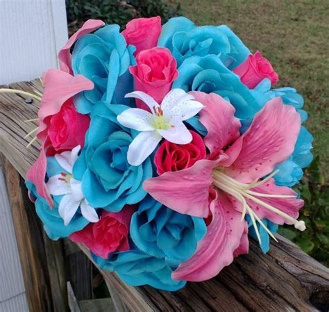 Pink Tiger Lily Wedding Bouquets