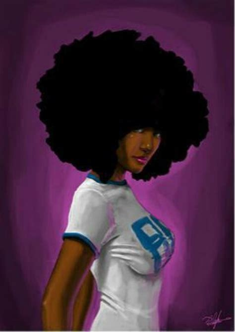natural hairstyles cartoon afro diva kiss my art pinterest