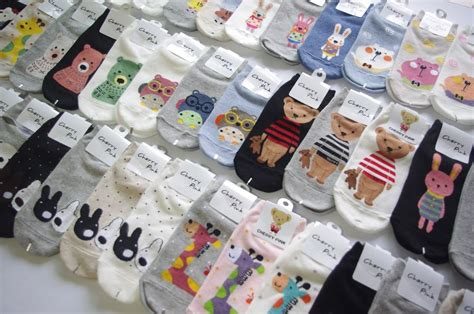 Korean Socks korean character socks for 3 5 7 10 15pairs random shipping made in korea ebay