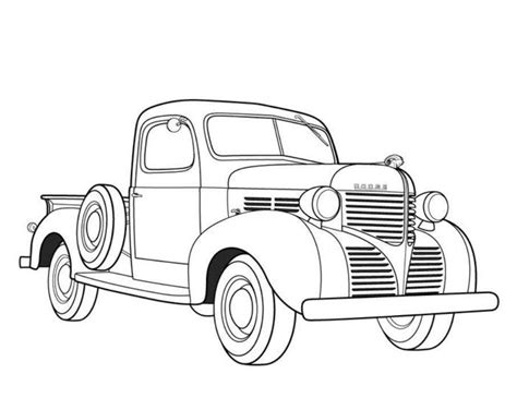 coloring page of old car dodge pickup 1939 old car coloring pages free online