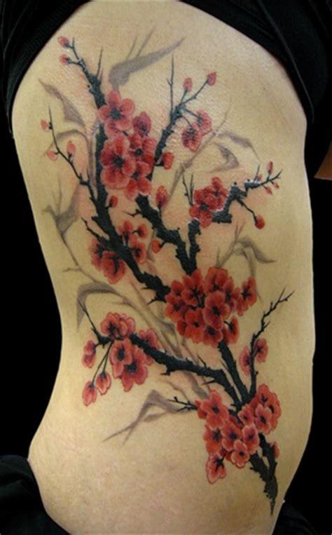 Wendi Koontz Red Cherry Blossom Tree Blossom Tree Back