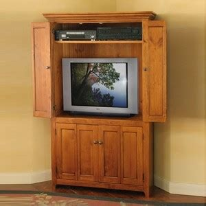Corner Television Armoire by Corner Tv Armoire Plans Wood Creative