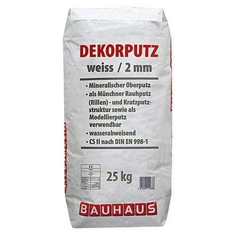 dekor putz bauhaus dekorputz 25 kg k 246 rnung 2 mm wei 223 bauhaus