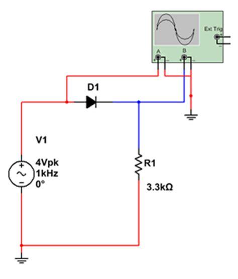 rectifier diode experiment grundlagen ewb v5 12