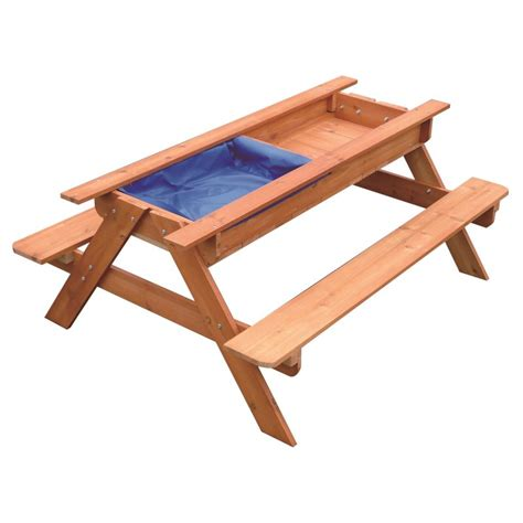 kids wooden picnic bench kids toddler wooden sand water picnic play table buy