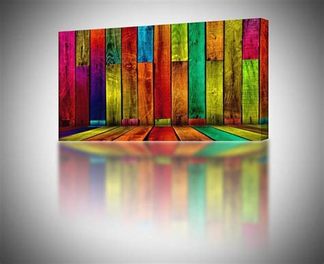 colorful wall decor 4 sizes colorful abstract boards canvas print home wall