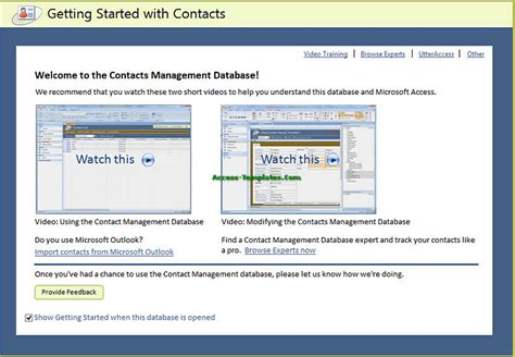 Microsoft Access Desktop Contact Management Database Templates Tutorial Microsoft Access Contact Database Template