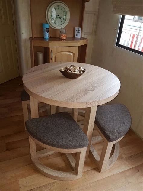 static caravan dining table chairs  kidsgrove