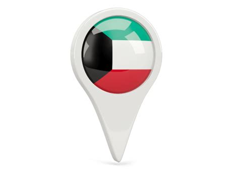 icon design kuwait round pin icon illustration of flag of kuwait