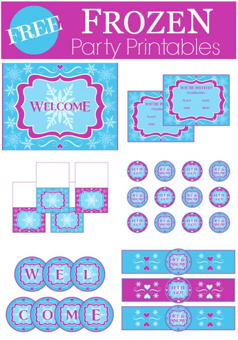 printable frozen labels free frozen party printables from printabelle water