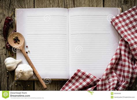 kitchen table book recipe book stock photo image of empty diet 33036308