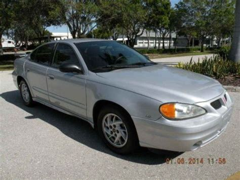 pontiac grand am 04 find used 04 pontiac grand am se silver in fort myers