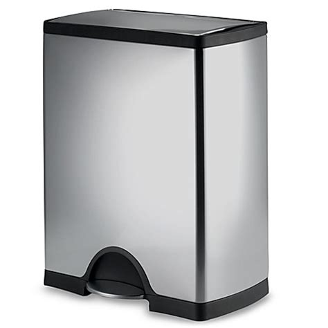 stainless steel bathroom garbage can buy stainless steel trash can from bed bath beyond