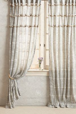 soft white curtains graduated tassel curtain anthropologie