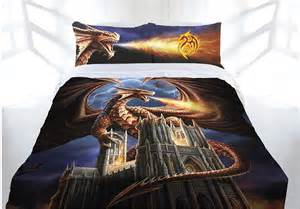 Vintage Girls Bedding by Anne Stokes Dragon Fury Doona Cover Bed Set Double Queen