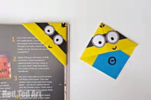 minion crafts corner bookmarks ted s