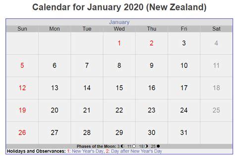 january  calendar  holidays nz holiday printable templates