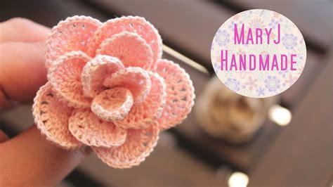 all uncinetto rosa alluncinetto crochet flower sub en