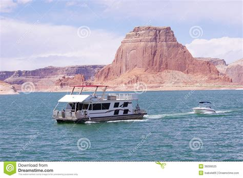 boat seats utah boat floating in lake powell utah royalty free stock