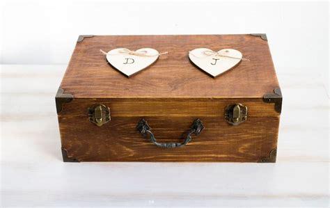 Wedding Card Chest by Rustic Wedding Card Box Holder Wooden Keepsake Box Wooden