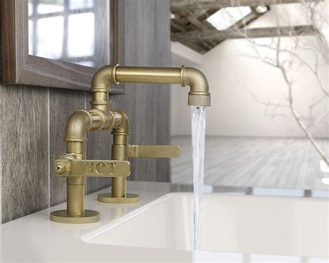 industrial bathroom faucets industrial style faucets by watermark to give your