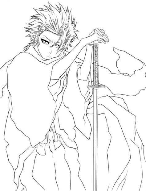 bleach coloring page az coloring pages