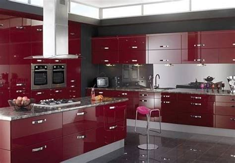 Modern Cabinet Design For Kitchen by Excellent Red Kitchen Cabinets For Your Home Coziness
