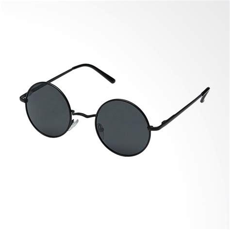 Kacamata Korea Kacamata Fashion Bulat Oval Hitam Trendy Gaya Keren jual oem bulat korea kacamata hitam frame hitam rd121