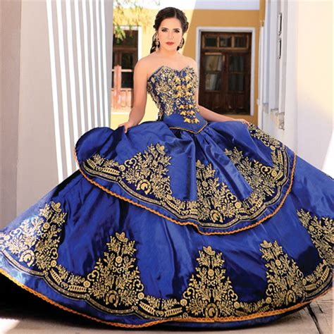 blue and gold l blue and gold quinceanera dress good dresses