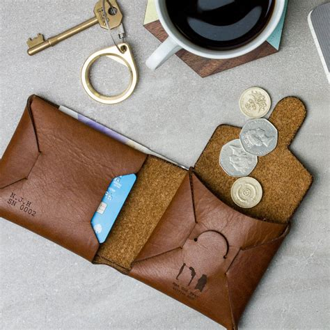 How To Make A Paper Coin Pouch - personalised origami leather wallet with coin purse by