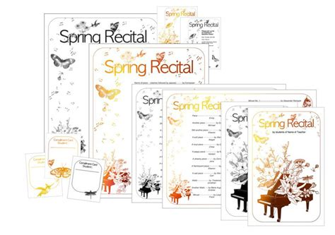 New Spring Recital Template Edit A Doc Pages Or Pdf Recital Program Template