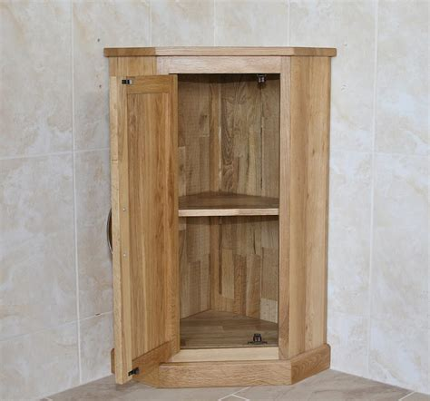 oak corner bathroom storage unit 501