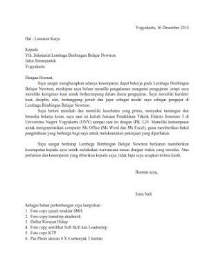contoh surat lamaran ke lembaga pemerintah contoh surat lamaran kerja ke lembaga bimbingan belajar