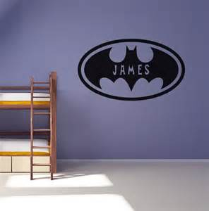 wall stickers for boys bedrooms personalised batman wall sticker boys bedroom decal