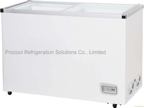 Jual Freezer Box Sharp procool flat glass door chest freezer products china procool flat glass door chest freezer supplier