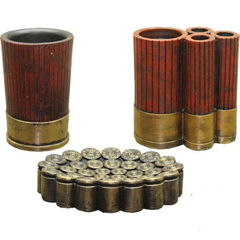 shell bathroom accessories shotgun shell bathroom accessory set