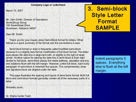 Block Format Business Letter Powerpoint letterwriting ppt