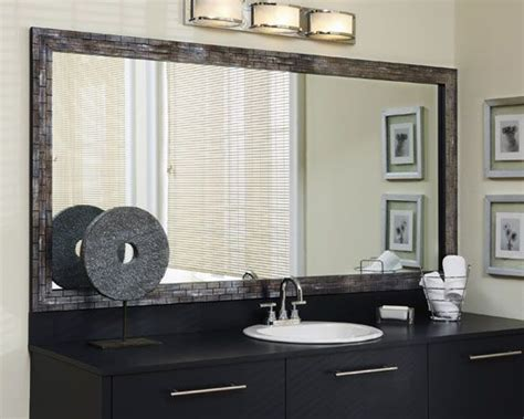 frame existing bathroom mirror makeovers frame a bathroom mirror framing existing
