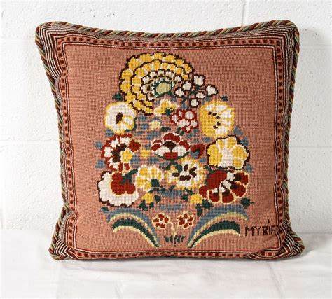 a great needlepoint pillow for sale at 1stdibs
