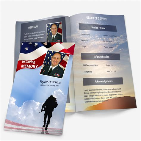 Officer Memorial Card Template by Funeral Phlets