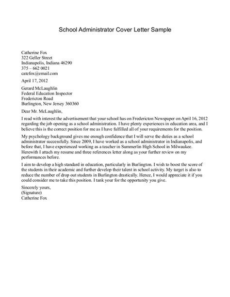 cover letter it administrator best photos of school letter format formal letter format