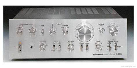 How To Read Dimensions by Pioneer Sa 8800 Manual Integrated Stereo Amplifier