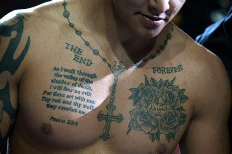 awesome bible verse tattoo on chest creativefan