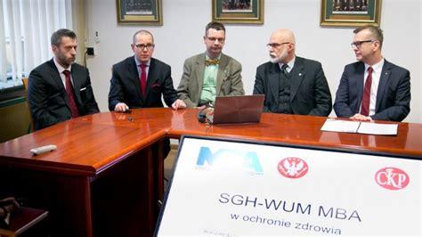 Mba Sgh by Sgh Wum Mba W Ochronie Zdrowia Konferencja Prasowa