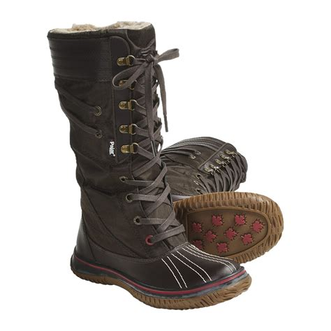 womens insulated boots pajar galit boots waterproof insulated for