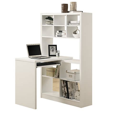 Monarch Specialties Corner Computer Desk With Built In White Corner Desk With Shelves